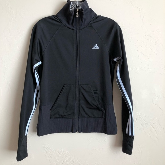 adidas Jackets & Blazers - Adidas Black Three Striped Fitted Jacket